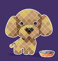 puddle dog vector image