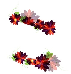 Red and purple flowers background vector image