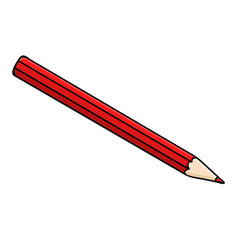 red pencil doodle style vector image