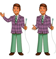 Retro Game Show Host vector image