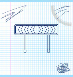 safety barricade symbol line sketch icon isolated vector image