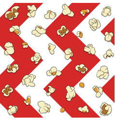 Seamless pattern with popcorn vector