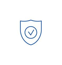 secure shield line icon concept secure shield vector image