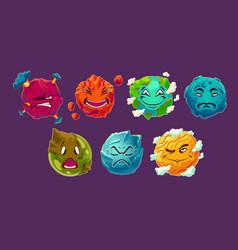 set of cartoon fantasy alien vector image