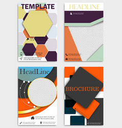 set of corporate brochures flyers and design vector image