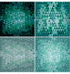set of four triangular backgrounds vector image