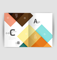 Set of front and back a4 size pages business vector