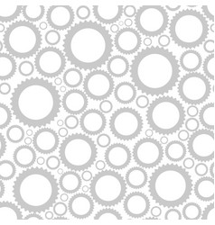 simple pattern of gears of different sizes vector image
