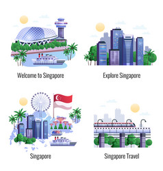 singapore 2x2 design concept vector image