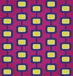 Sixties Retro Seamless Pattern vector image