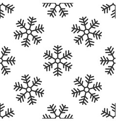 snowflake seamless pattern on white background vector image