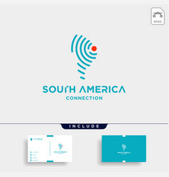 South america signal logo design internet wifi vector
