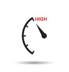 speedometer tachometer fuel high level icon flat vector image