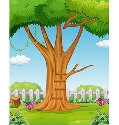 Tree in the garden vector