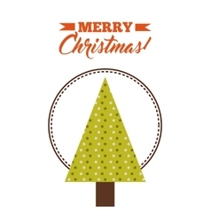Triangle pine tree icon Merry Christmas design vector