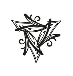 Triangular abstract organic pattern motif vector