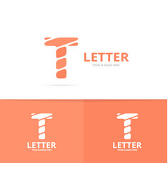 unique letter t logo design template vector image
