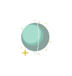 uranus colored icon element of space signs and vector image