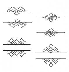 vintage monograms vector image
