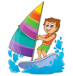 Water sport theme image 1 vector