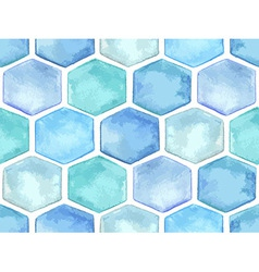 Watercolor Geometric Seamless Pattern vector image