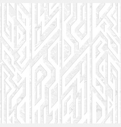 white ancient geometric seamless pattern vector image