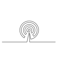 wi fi antenna icon on white background vector image