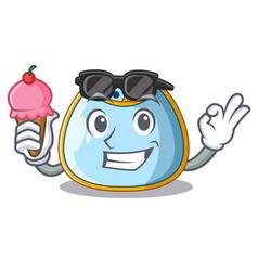 With ice cream cartoon baby bib on a clothesline vector