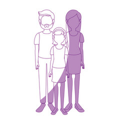 Young family cartoon vector