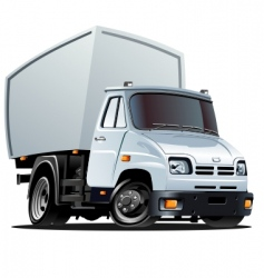 cartoon truck vector image vector image