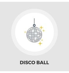 Disco ball flat icon vector image vector image