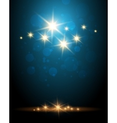 Shining Stars Colorful Background vector image vector image