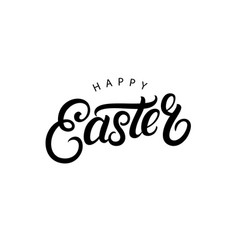 happy easter hand written lettering vector image vector image