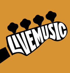 live music lettering vector image vector image