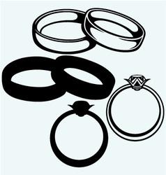 Wedding rings icon vector image vector image