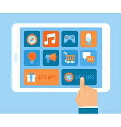 app purchasing concept in flat style vector image vector image