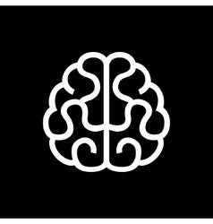 Brain Icon on Black Background vector image