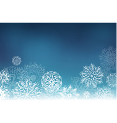 christmas background with hand drawing snowflakes vector image vector image