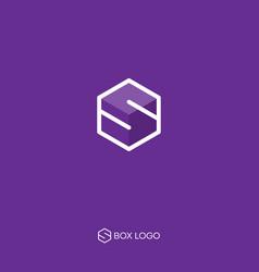 delivery logo s box monogram vector image
