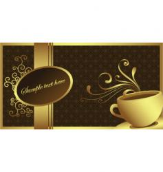 gold coffee vector image