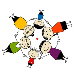 Happy family together frame for your design vector image