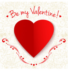 happy valentines day card with elegant floral vector image vector image