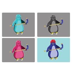 Hockey Penguins Emblem vector image vector image