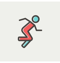 Running man thin line icon vector image