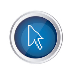 blue emblem mouse cursor icon vector image vector image