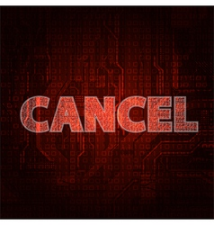cancel vector image vector image