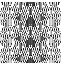 Contrast black and white symmetric seamless vector