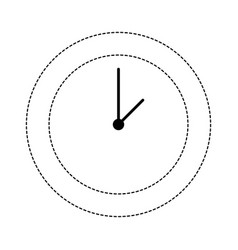 dotted shape circle wall clock time object vector image