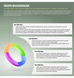 Four-step diagram vector image vector image