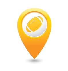 Map pointer with american football icon vector image